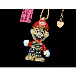 Betsey Johnson Mario Character Necklace